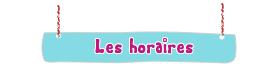 Horaire colonie 2010s